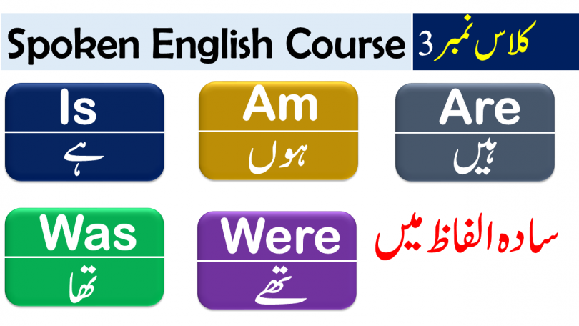 Use of is am are with Urdu / Hindi Translation - 50 Sentences of daily use for spoken English for beginners with Urdu meanings download PDF free, Basic English grammar in Urdu, Learn English grammar with URDU Meanings free, Sentences using is, am, are, Basic English lessons with Urdu.