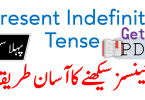 Present Indefinite Tense in Urdu with Examples PDF