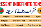 Present Indefinite Tense in Urdu & Hindi Video & PDF Present Simple Tense with Urdu Sentences - Uses PDF, Present Indefinite Tense with Uses and rules, Present Indefinite Tense definition and formulas, Formation of simple, Negative and interrogative sentences using Present Indefinite Tense