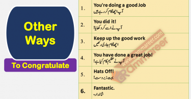 Different Ways to Congratulate Someone with Urdu Translation this lesson is about learning 35 ways to congratulate someone with the help of Urdu translation sentences, Mubarak baad daina in English, How to congratulate someone for his achievement How to appreciate someone in Urdu