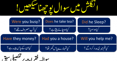 How to make Interrogative Sentences in Urdu & Hindi  Formation Question Sentences in English with Urdu Translation, How to make Questions in Present Tense, Past Tense and Future Tense
