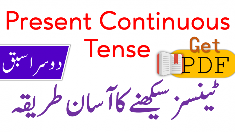 Present Continuous Tense in Urdu with Examples PDF