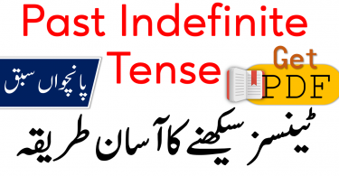 Past Indefinite Tense in Urdu with Examples PDF