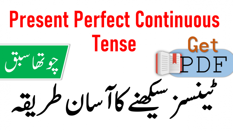 Present Perfect Continuous Tense in Urdu with Examples PDF
