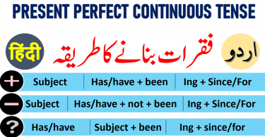 Present Perfect Continuous Tense in Urdu & Hindi with Examples & PDF Learn Present perfect Continuous tense in Urdu with examples sentences, uses and PDF Tenses in Urdu Tenses in Hindi Learn 12 Tenses in Urdu PDF English tenses table in Urdu PDF learn English verb tenses in Urdu