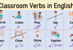 Classroom Verbs in English with Urdu Meanings Learn list of commonly used verbs used in school with examples sentences and pictures to enhance your English vocabulary also download PDF book.