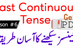 Past Continuous Tense in Urdu with Examples PDF