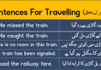 Sentences For Travelling with Urdu or Hindi Translation learn daily used English sentences for travelling with Urdu or Hindi translation for improving your English speaking skills.