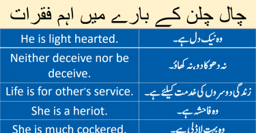 Sentences about Character with Urdu Translation learn common English sentences about personality and character with Urdu and Hindi translation.