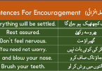 Sentences For Encouragement with Urdu or Hindi Translation learn useful English sentences for encouraging someone with Urdu and Hindi translation for improving your English speaking skills.