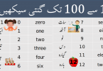 Urdu Counting 1 to 100 Ginti learn English to Urdu Numbers in this lesson you will get a list of numbers from 0 - 100 in Urdu and English.