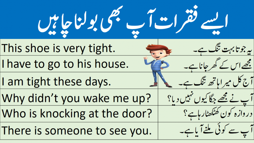 Formal Conversation Sentences with Urdu Translation learn common English sentences used in daily life with Urdu and Hindi translation for speaking English everywhere