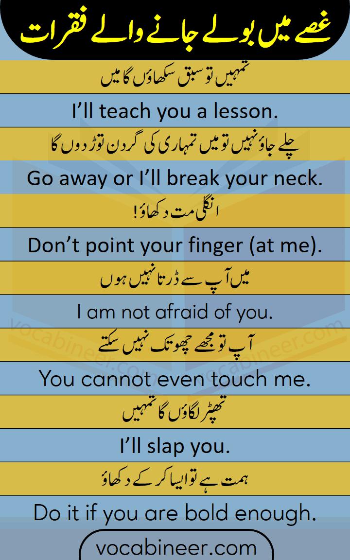 Learn English through Urdu and Hindi