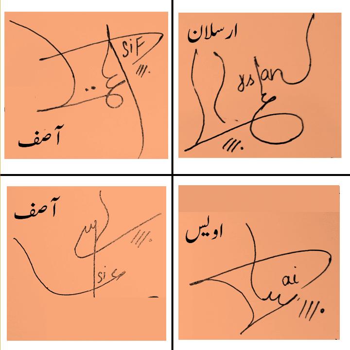 Asif, Arsalan, Awais name signature