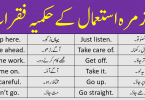 Imperative Sentences Examples with Urdu Translation