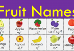 Fruit Names Vocabulary in Urdu with Pictures