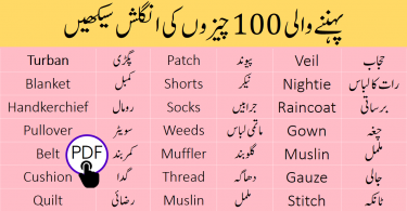 Names of Clothes in English and Urdu - Clothes Vocabulary