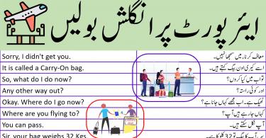 80 English Sentences to Speak English at Airport with Urdu Translation, Airport Sentences in English and Urdu, Speak English at airport , Airport Conversation in English