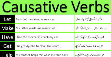 causative verbs in English through Urdu